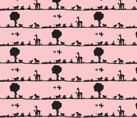 Day of the Dadda - Pink fabric by tylerstrain on Spoonflower - custom fabric
