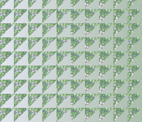 © 2011 quilt big hydrangea green fabric by glimmericks on Spoonflower - custom fabric