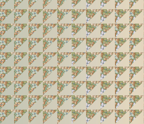 © 2011 quilt big hydrangea bone tan fabric by glimmericks on Spoonflower - custom fabric