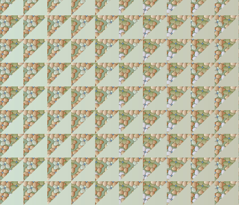 © 2011 quilt big hydrangea khaki fabric by glimmericks on Spoonflower - custom fabric