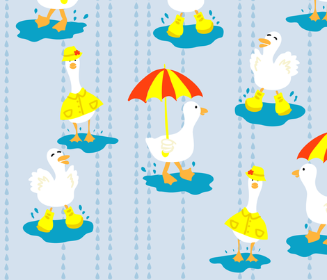 Puddle Ducks fabric by shadowfell on Spoonflower - custom fabric