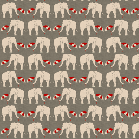 elephant_and_umbrella_small fabric by holli_zollinger on Spoonflower - custom fabric