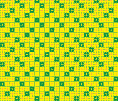 clover (yellow-green) fabric by mossbadger on Spoonflower - custom fabric