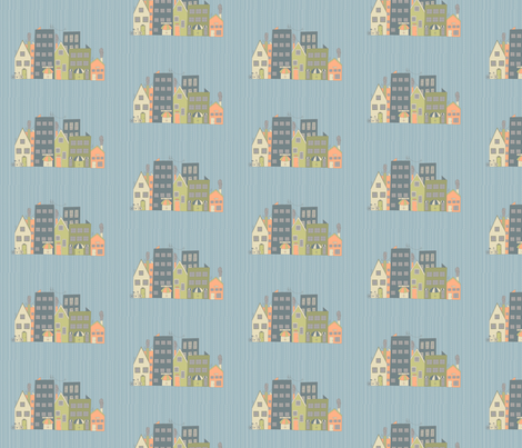 a rainy day fabric by skb on Spoonflower - custom fabric