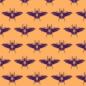scarabs in flight purple/peach