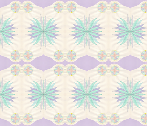 the lily and star - inverted fabric by mimi&me on Spoonflower - custom fabric