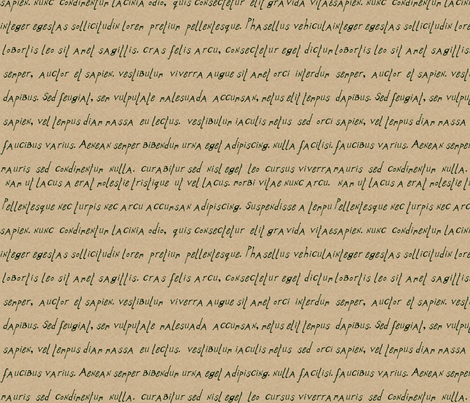 alphabet_print_latin_kraft_italic fabric by wiccked on Spoonflower - custom fabric
