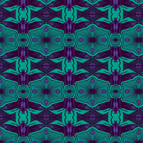 Scarabs in flightB 8 fabric by tallulah11 on Spoonflower - custom fabric