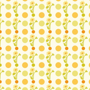yellow flowers and dots