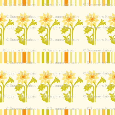 yellow flowers and stripes