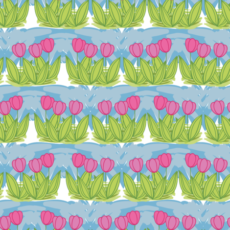Tulips fabric by suziedesign on Spoonflower - custom fabric
