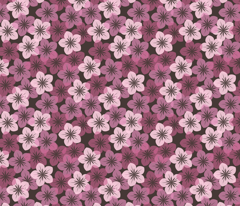 springflowers1 fabric by suziedesign on Spoonflower - custom fabric
