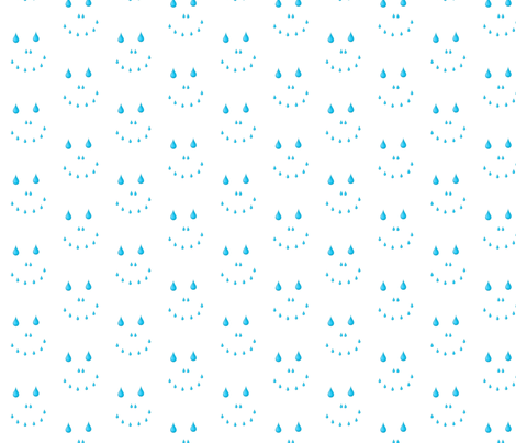 RAIN SMILE fabric by glendat on Spoonflower - custom fabric