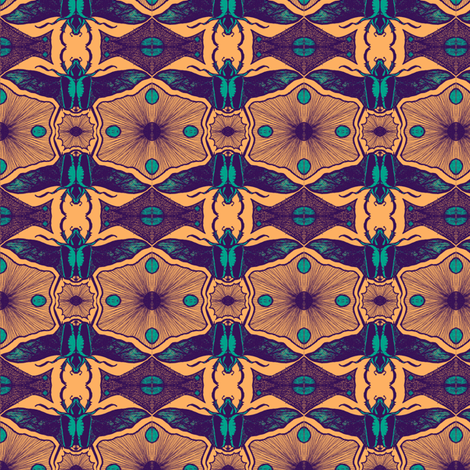 Scarabs in flightB 4 fabric by tallulah11 on Spoonflower - custom fabric