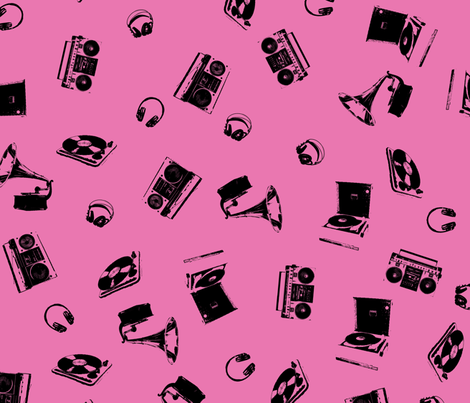 Music Machines fabric by candyjoyce on Spoonflower - custom fabric