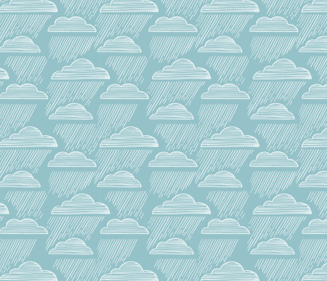 Rain falls fabric by mrsjellyfish on Spoonflower - custom fabric