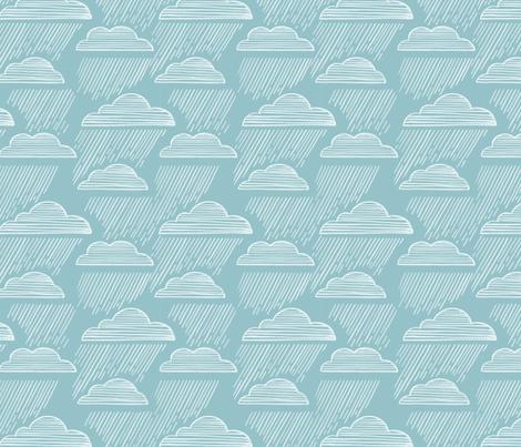 Rain falls fabric by mrsjellyfish on Spoonflower - custom fabric