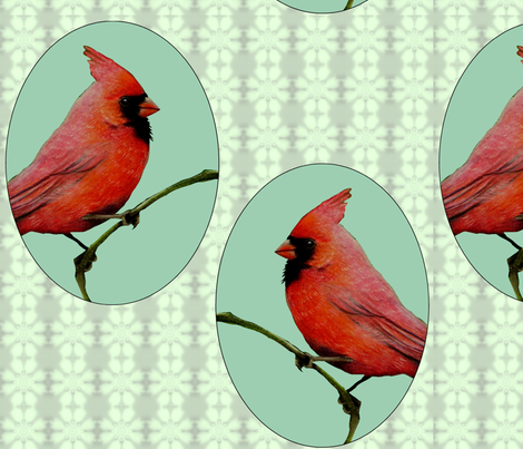 Bright Cardinal fabric by melody_lea_lamb on Spoonflower - custom fabric