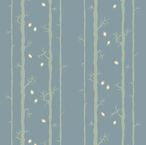 Stalk Blue fabric by bee&lotus on Spoonflower - custom fabric
