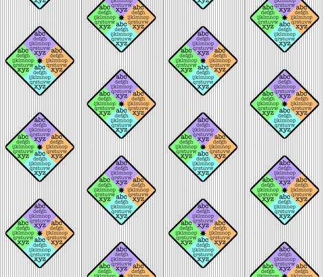 ABCs in stripes fabric by myfavoritebug on Spoonflower - custom fabric