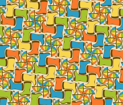 Rain Gear Rhythm  fabric by ceanirminger on Spoonflower - custom fabric