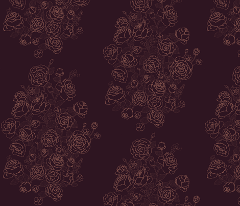 Rose Bouquet fabric by shirayukin on Spoonflower - custom fabric