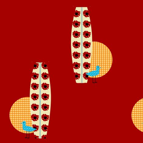 surfing piper fabric by krihem on Spoonflower - custom fabric
