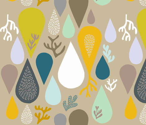 rain or shine gray fabric by endemic on Spoonflower - custom fabric