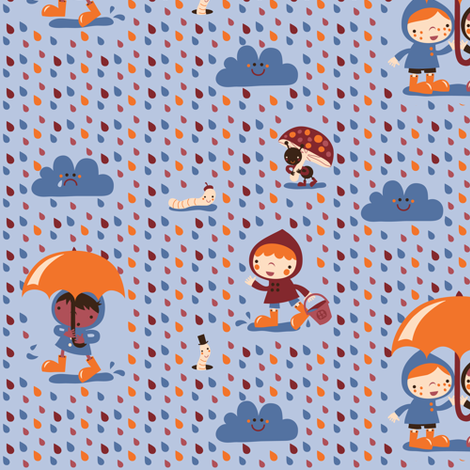 A happy rainy day! fabric by bora on Spoonflower - custom fabric