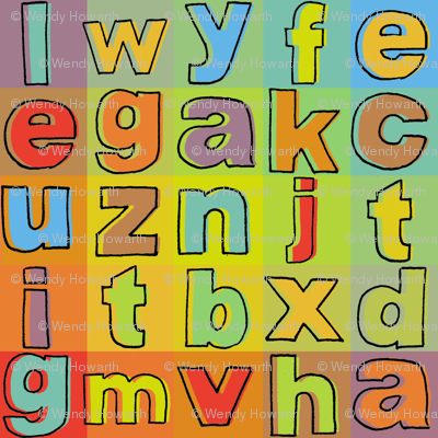 Alphabet Colours (with outline)