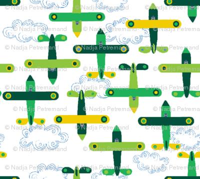 les_avions_de_léon_vert