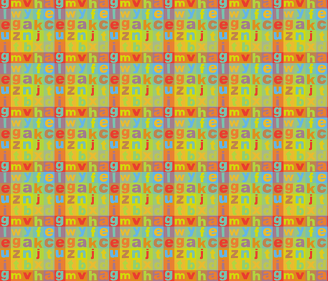 Alphabet Colours fabric by woodle_doo on Spoonflower - custom fabric