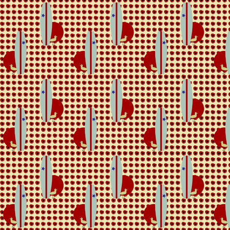 surfing piper - hibiscus fabric by kri8f on Spoonflower - custom fabric