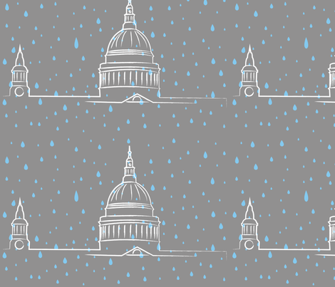 London Rain fabric by annagalvin on Spoonflower - custom fabric