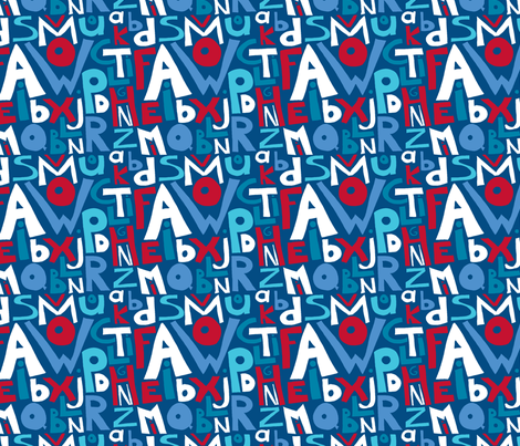 alphabet_cocarde fabric by nadja_petremand on Spoonflower - custom fabric