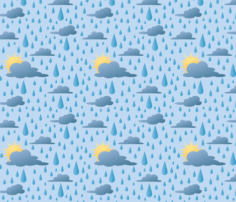 April Showers fabric by crowlands on Spoonflower - custom fabric