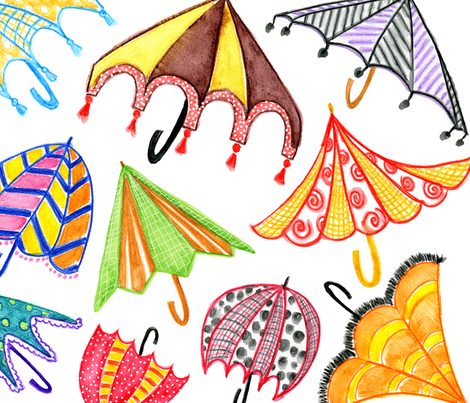 funbrellas by marley ungaro fabric by marleyungaro on Spoonflower - custom fabric