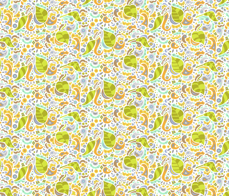 Happy Falling Leaves fabric by katrinazerilli on Spoonflower - custom fabric