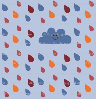 Rain in blue