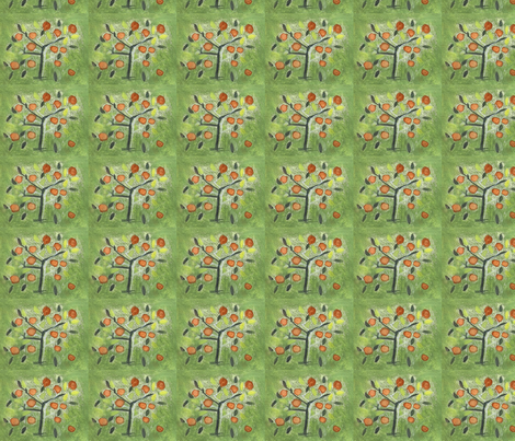 55150002- Orange Groves fabric by josephinefletcher on Spoonflower - custom fabric