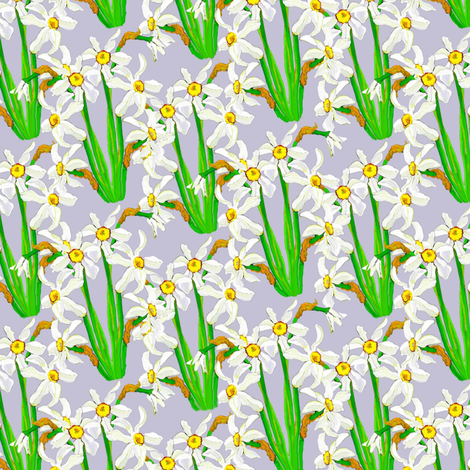 Poet's Narcissus fabric by joanmclemore on Spoonflower - custom fabric