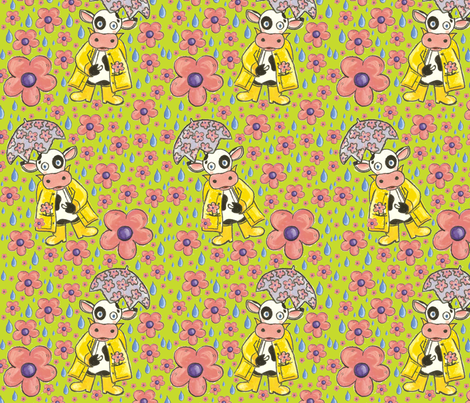 April Showers Bring May Flowers... fabric by asilo on Spoonflower - custom fabric