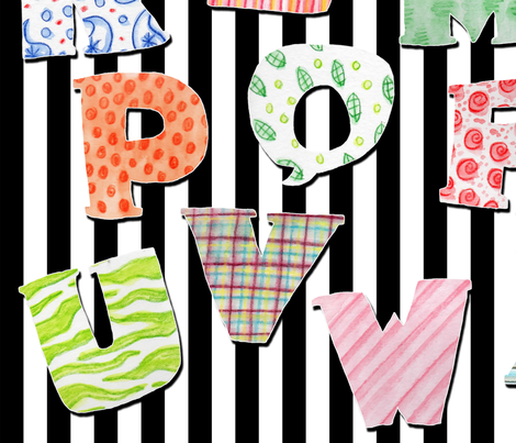 Zany A to Z fabric by marleyungaro on Spoonflower - custom fabric