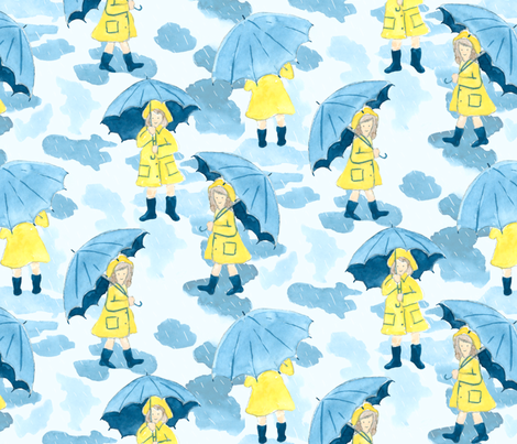 April Showers fabric by minimiel on Spoonflower - custom fabric