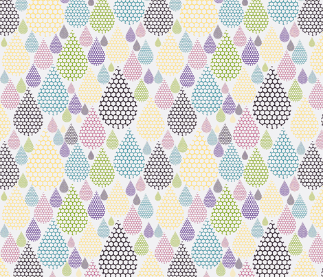 droplets  fabric by luciesummers on Spoonflower - custom fabric