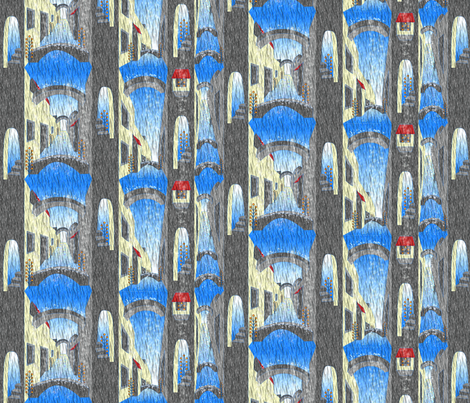 © 2011 Pouring down town fabric by glimmericks on Spoonflower - custom fabric