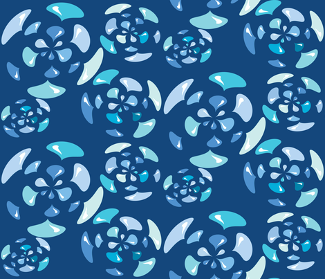 Rain Flowers fabric by merttu on Spoonflower - custom fabric
