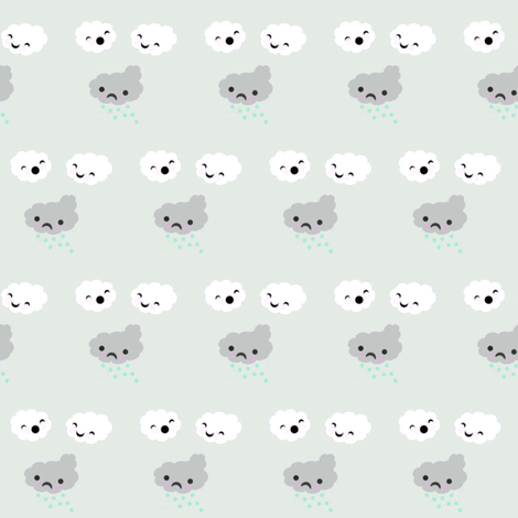 Cloud bullies fabric by itybitybags on Spoonflower - custom fabric