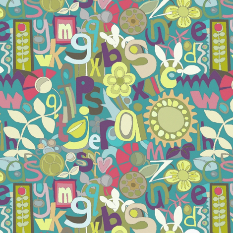 floradelish abc fabric by scrummy on Spoonflower - custom fabric