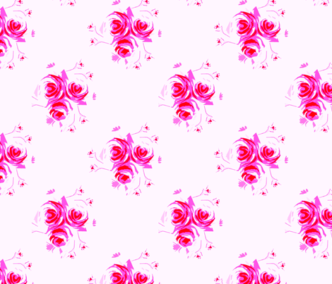 Roses Print 10 fabric by joanmclemore on Spoonflower - custom fabric